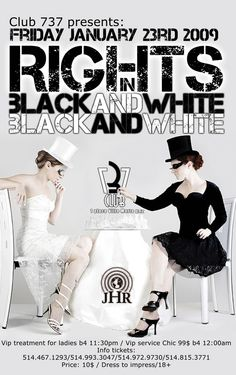 I really like this black and white party invite.