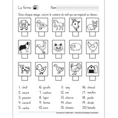 Find the right word, Easter French Language Lessons, French Language Learning, French Lessons, French Teaching Resources, Teaching French, Teaching Tools, Amelie Pepin, French Alphabet, French Worksheets