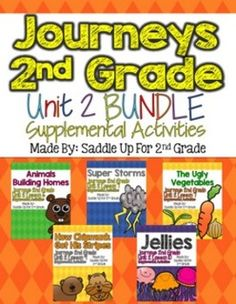 These activities are for the 2012 HM Journeys Second Grade. All of the stories from Unit 2 are included and the activities were created to supplement the basal series. There are activities to be used in stations, small groups, and whole group lessons.