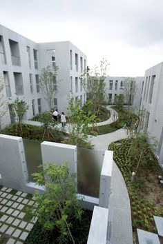 japan-architects.com: 長谷川逸子による共同住宅「NISHIMAGOME TERRACE COURT」