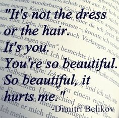 dimitri belikov. NAWWWW I LOVED THIS SCENE. I CRIED HAPPY TEARS