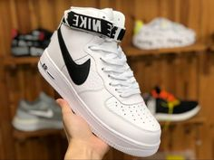 new arrival 013ec 07998 Nike Air Force 1 High  07 NBA Pack White Black With Strap Sneakers-1