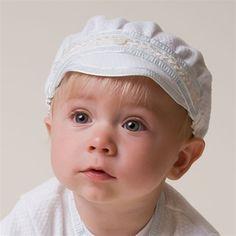 Newborn Boy Cotton Hat - Harrison Christening & Baptism Collection