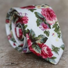 Floral ties for a floral guy!