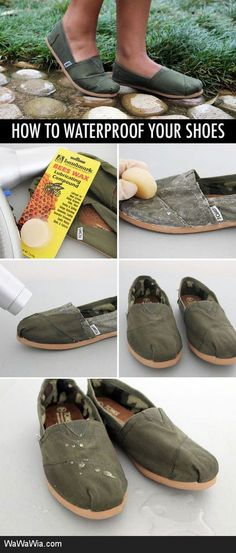 How to waterproof your shoes