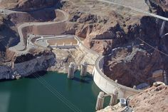 Hoover Dam on the border between Nevada and Arizona. Hoover Dam, Nevada, Arizona, In This Moment, Usa, Water, Travel, Outdoor, Pictures