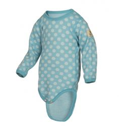 Janus Merino Wool Baby Bodysuit Polka Dot Long Sleeve Made in Norway 46 Months Blue >>> Check this awesome product by going to the link at the image. Janus, Blue Check, Baby Bodysuit, Merino Wool, Polka Dots, Barn, Pullover, Hoodies, Long Sleeve