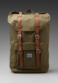 HERSCHEL SUPPLY CO. Little America Backpack in Army at Revolve Clothing - Free Shipping!