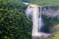 Breathtaking waterfalls. The powerful Kaieteur Falls is a major draw for tourists in Guyana, despite its undeveloped nature. ... - Shutterstock