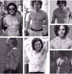 OMGGG KIT HARINGTON SHIRTLESS   <3_<3
