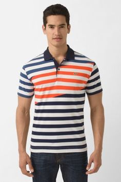 Pete: WKND POLO Short Sleeve Engineered Stripe Printed Bar Stripe Polo. Upgraded Polo for BBQ party.