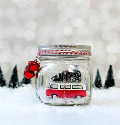 Stamped Snowflake Mason Jars - Mason Jar Crafts Love