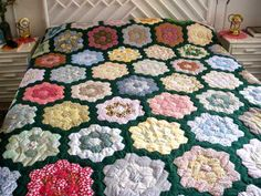 Pictures of One Patch Quilts: Grandma's Garden Quilt