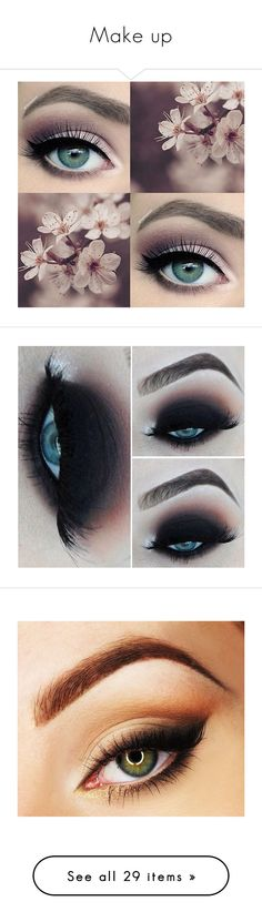 """Make up"" by yuliaexe ❤ liked on Polyvore featuring Beauty, makeup, cosmetic, facechart, beauty products, eye makeup, eyes, beauty, tarte makeup and tarte"