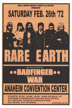 Rare Earth, Badfinger, War - Anaheim Convention Center