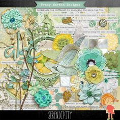 Digital Scrapbook Kit, Serendipity by Tracy Martin Designs