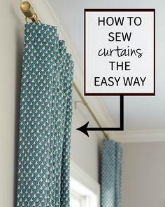 Sewing Curtains Tutorial Bathroom Ideas For 2019 No Sew Curtains, Kids Curtains, How To Make Curtains, Easy Curtains, Window Curtains, Diy Blackout Curtains, Homemade Curtains, Burlap Curtains, Bathroom Curtains