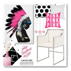 """""""Pink , pink"""" by gul07 ❤ liked on Polyvore featuring interior, interiors, interior design, home, home decor, interior decorating, Worlds Away, Pillow Decor and LAFCO"""