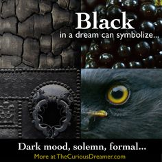Dream dictionary meaning for the dream symbol: black. Back To Black, Black Dark, Color Black, Colour, Lucid Dreaming, Dreaming Of You, What Your Dreams Mean, Dream Psychology, Understanding Dreams