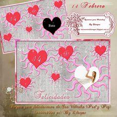 Recursos Photoshop Llanpac: Tarjeta de felicitación para el día de San Valentí...