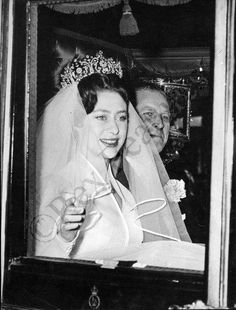 Princess Margaret on her way to Westminster Abbey.
