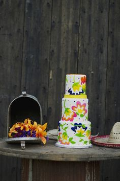 Colorful, fiesta-inspired cake