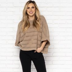 aab2c9f2ae600c Camilla Sweater in Taupe - Dainty Hooligan Boutique Black Skinnies, Size  Chart, Laundry Room