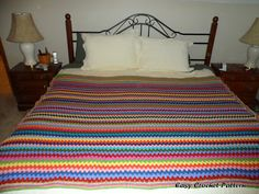 Granny Stripe Afghan Chart - Easy Crochet Pattern
