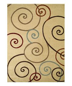Take a look at this Ivory Scroll Rug by Concord Global Trading, Inc. on #zulily today!