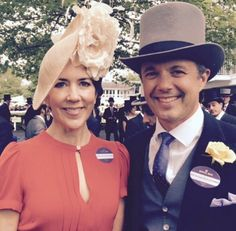 Crown Prince Frederik and Crown Princess Mary yesterday at Royal Ascot. Via the Royal Family's instagram.
