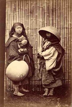 Mendicant Nuns, circa 1870, who make their living by begging