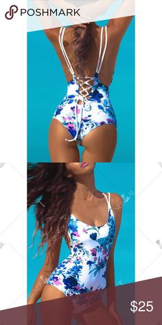 *ONE HOUR SALE* 5/15 One Piece Floral Swimsuit Brand new! *Not actually nasty gal* Nasty Gal Swim One Pieces