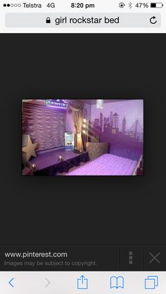 A stage in a bedroom