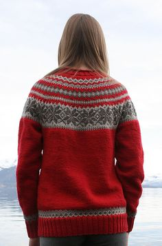 Ravelry: 0611-20 Sweater with Round Yoke pattern by Sandnes Design