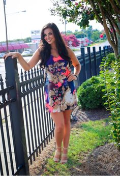 Love this splash of color in this adorable dress found at www.3jemsboutique.com  Follow us on FB & Instagram
