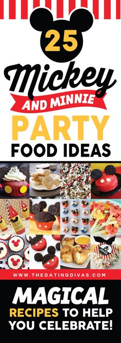 Tips (including Disney World Tips!) - from 25 Mickey and Minnie party food ideas. All you need for your Disney themed birthday Mickey and Minnie party food ideas. All you need for your Disney themed birthday party. Mickey Mouse Clubhouse Birthday Party, Mickey Mouse Bday, Mickey Mouse Parties, Mickey Birthday, Mickey Party, 1st Boy Birthday, Boy Birthday Parties, Disney Parties, Disney Themed Party