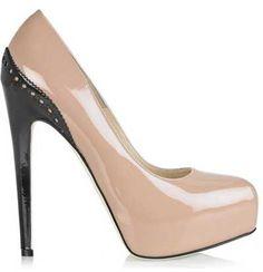 Nude & black heel
