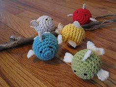 Crocheted Fish with magnets inside so kids can 'go fishing'! Love the homemade cuteness! :)
