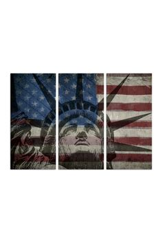 Statue of Liberty Triptych Canvas Art by Oliver Gal Gallery on @HauteLook