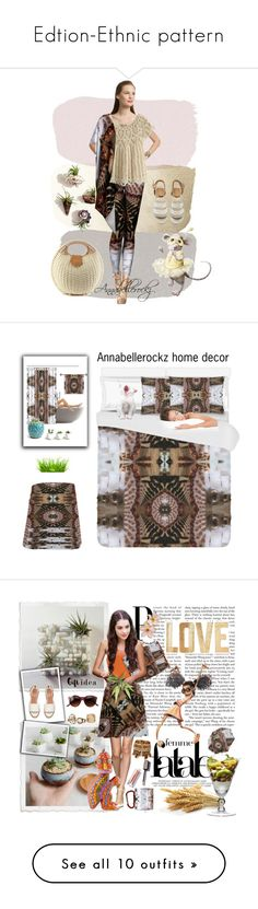 """""""Edtion-Ethnic pattern"""" by annabellerockz ❤ liked on Polyvore featuring annabellerockz, Calypso St. Barth, interior, interiors, interior design, home, home decor, interior decorating, Kane and PBteen"""