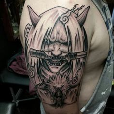 Manga Tattoo, Naruto Tattoo, Anime Tattoos, Body Art Tattoos, Cool Tattoos, Japanese Tattoo Symbols, Japanese Tattoo Art, Japanese Tattoo Designs, Samurai Mask Tattoo
