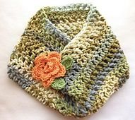 Ravelry: Crochet Cowl pattern by V Vicatos. Lighter earth tones
