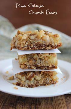 Pina Colada Crumb Bars