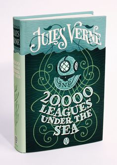 Book Cover Illustration and Hand Lettering for '20,000 Leagues Under the Sea'. © Jim Tierney 2012