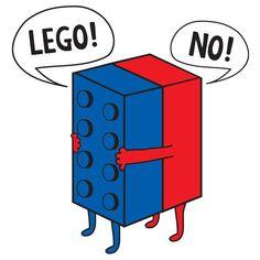 Funny Shirt Lego Parody ' Lego NO ' Any Color by creativeinksmi #legos #funny