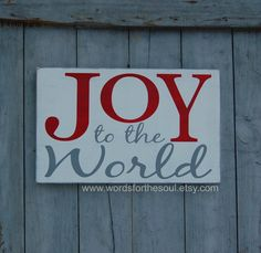 Joy to the World Christmas Sign Typography by WordsForTheSoul