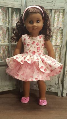 """Pink with Heart Cutouts Dress Shoes made for 18/"""" American Girl Doll Clothes"""