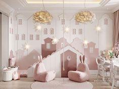 Image may contain: bedroom, table and indoor Cool Kids Bedrooms, Girls Bedroom, Kids Bookcase, Teenage Room, Toddler Rooms, Kids Room Design, Baby Room Decor, Kid Spaces, Kid Beds