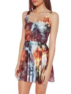 Galaxy Pearl 2.0 Scoop Skater Dress (WW $85AUD / US $68USD) by Black Milk Clothing