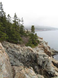 The coast of Maine is gorgeous in the fog. Acadia National Park #endorsed Photo by Doug Kerr